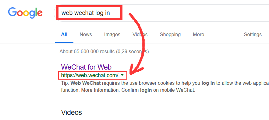 Login online wechat WeChat Official