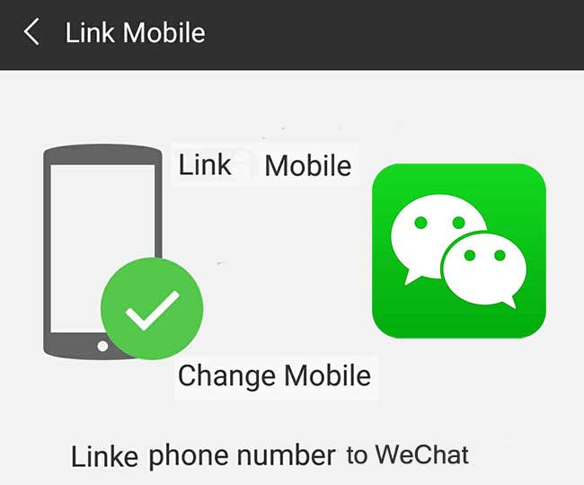 Unlink wechat phone number cannot WeChat