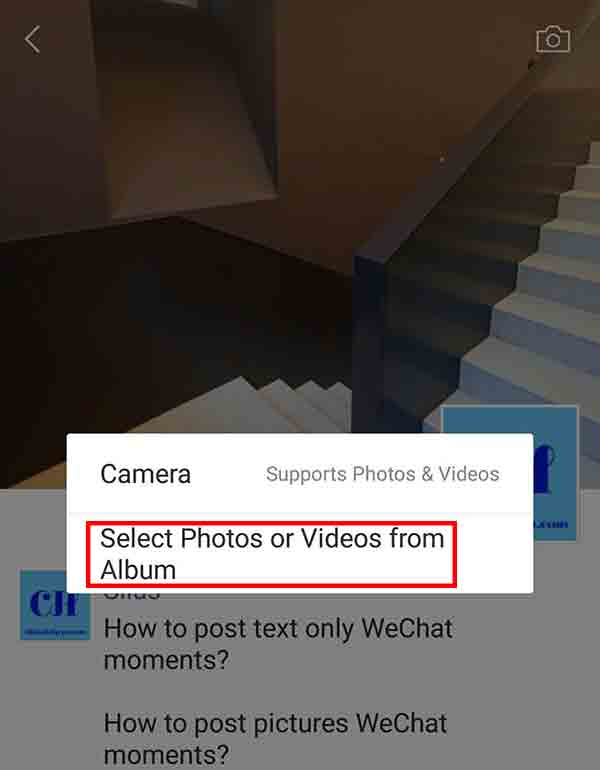 To see wechat moments on pc
