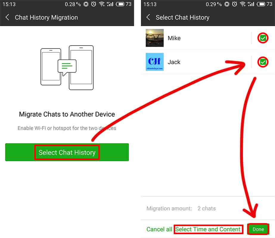 Backup and Restore WeChat chat history | China Help